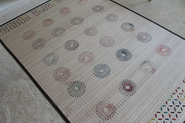 bamboo rug martha tewart stencil acrylic paint home decor