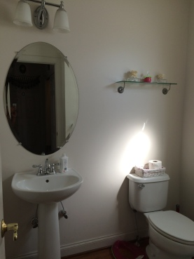 powder room makeover painting, redo diy