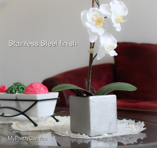 stainless steel spray paint orchid spring home decor