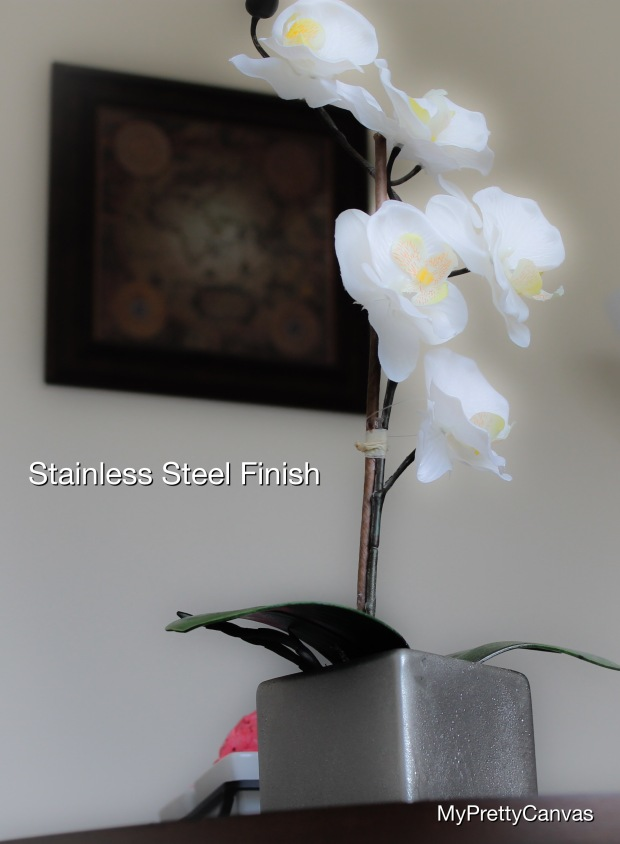stainless steel orchids flowers spring home decor