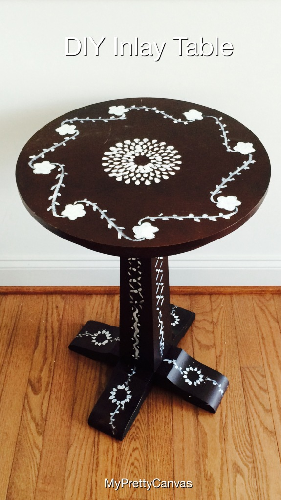 bone inlay mother of pearl indian table