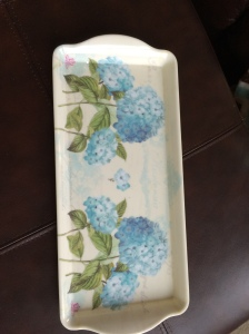 homegoods tray diy home decor spray paint polka dots martha stewart