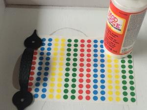 mod podge coding dots handles home depot ac moore craft diy home decor