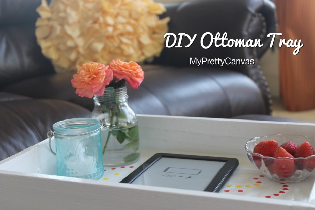 ottoman tray diy home decor kindle strwberries paint family room magazines