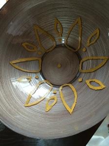 handcraft, hand painted, enamel apint, home decor, glass bowl, home decor, diy,blog