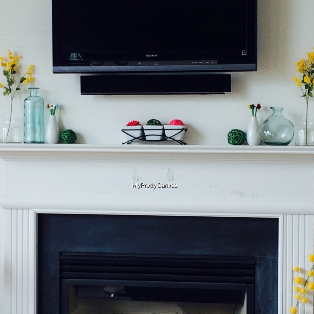 fireplace mantel home decorating ideas spring decor flowers vses homegoods marshalls