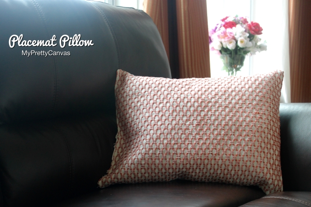placemat pillow, diy, home decor, decrating ideas, no sew , blogging