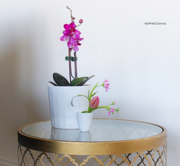 gold leaf table, home decorating ideas, blogging, blog, home decor, rub n buff, diy
