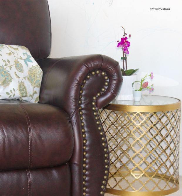 gold leaf table, decorating ideas, home, blogging, regina andrew, diy , ross