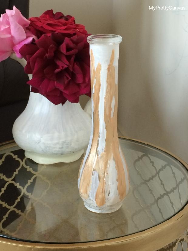 paint vase, acrylic paint, martha stewart, homegoods, home decor ideas, blogging