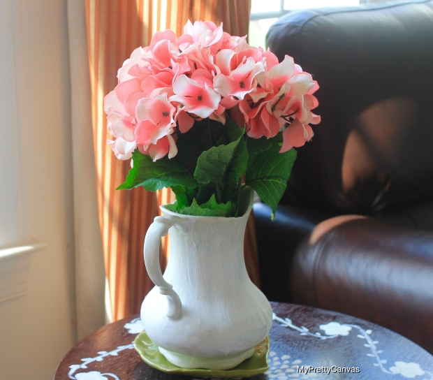 pitcher vase ,hydrangeas flowers vases home decor tips