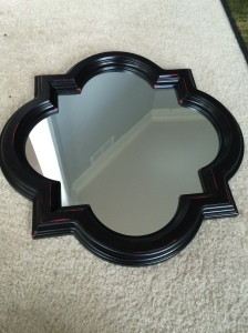 two tone mirror, decorating ideas, diy, martha stewart paints,home decor