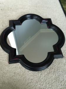 two tone mirror, decorating ideas, diy, martha stewart paints,home decor