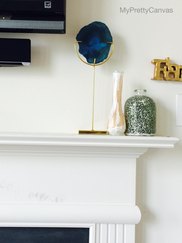 summer, z gallerie, agate, mantel,homedecor, decorating ideas