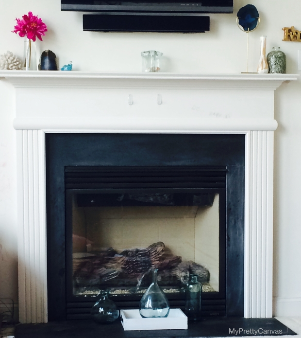 peonies, summer,mantels, fireplace,coral,home decorating ideas,family room,west elm, homegoods,zgallerie,agate,aqua vases