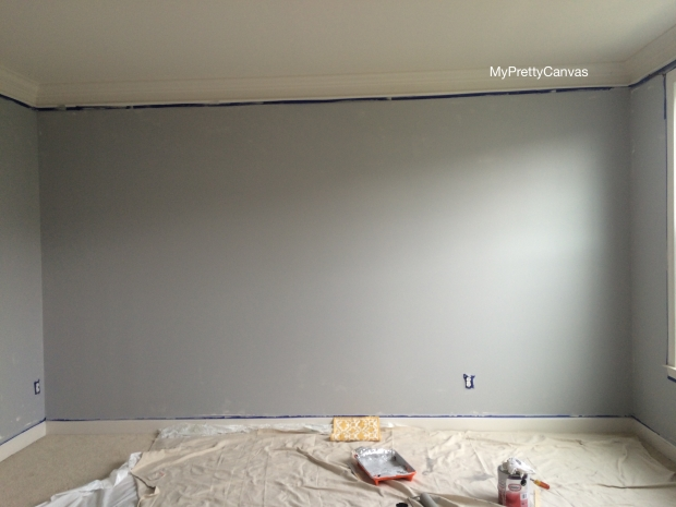 grey living room decorating ideas, home decor, painting, blogging, home depot, angled brush,tsp