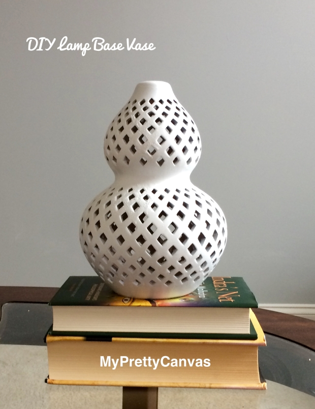 lamp base decorating ideas, vase, white, spray paint, diy,home decor