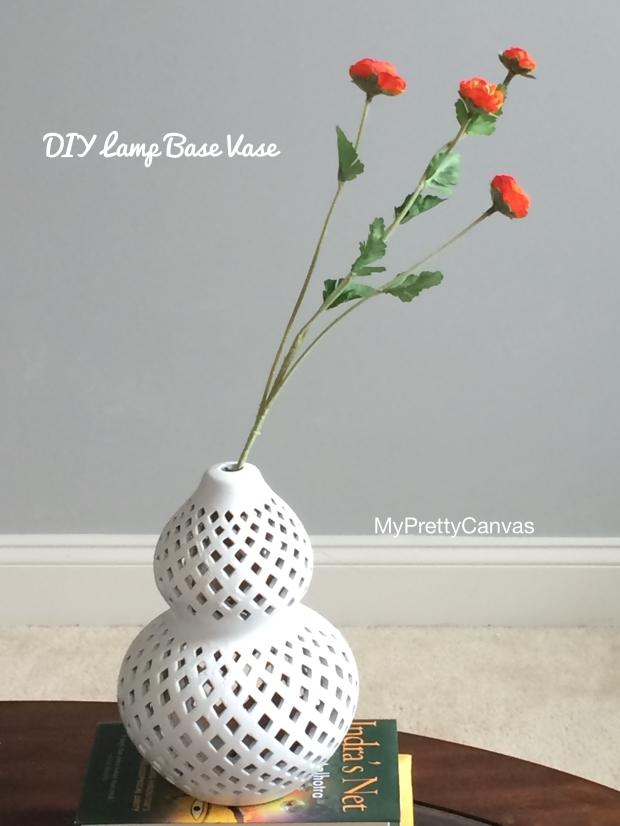 lamp base decorating ideas, vase, white, spray paint, diy,home decor