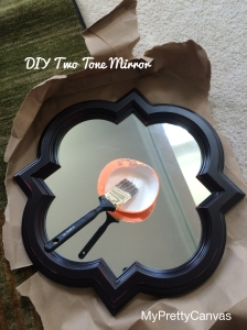 two tone mirror, decorating ideas, primer, paint, living room,diy