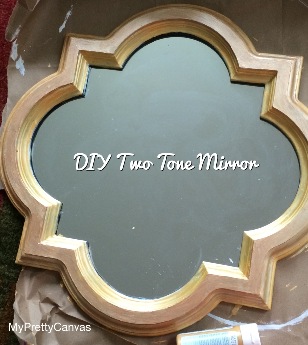 two tone mirror, rose god,pale brone, martha stewart, home decor,diy,tips,ideas