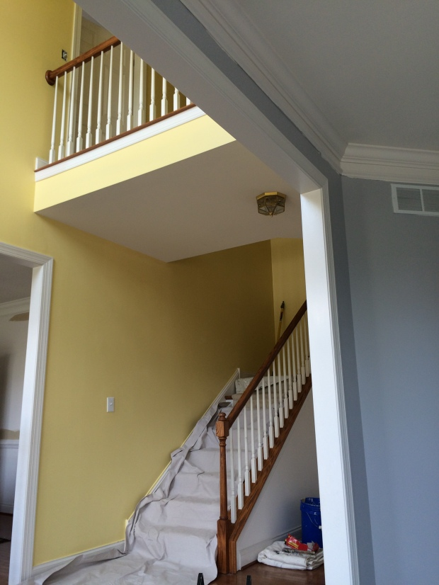 jonquil yellow, foyer room color ideas,glidden, painting, home decor